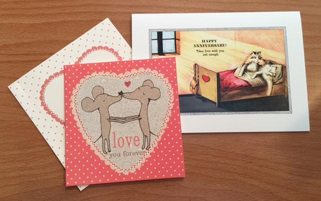 Th wedding anniversary card handmade personalised tenth