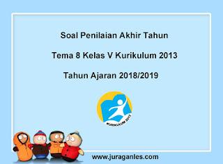 Contoh Soal UKK / PAT Tema 8 Kelas 5 K13 Terbaru Tahun 2018/2019