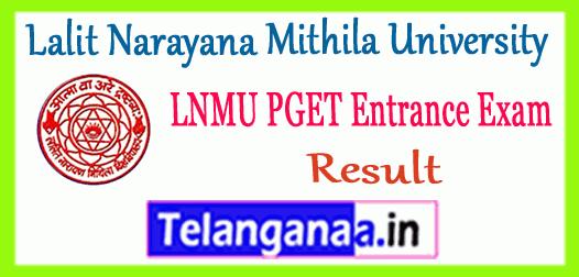 LNMU PGET Lalit Narayana Mithila University Entrance Result