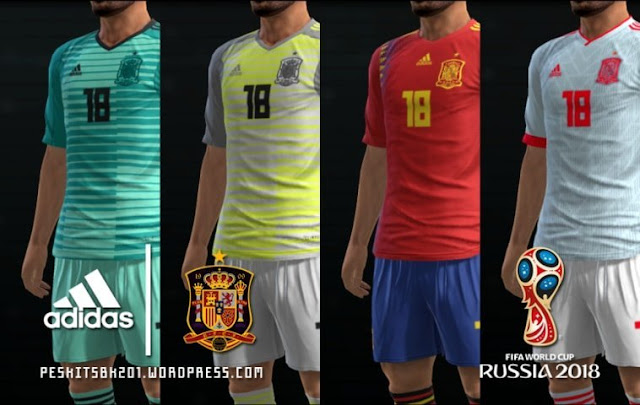 Spain 2018 World Cup Kit PES 2013
