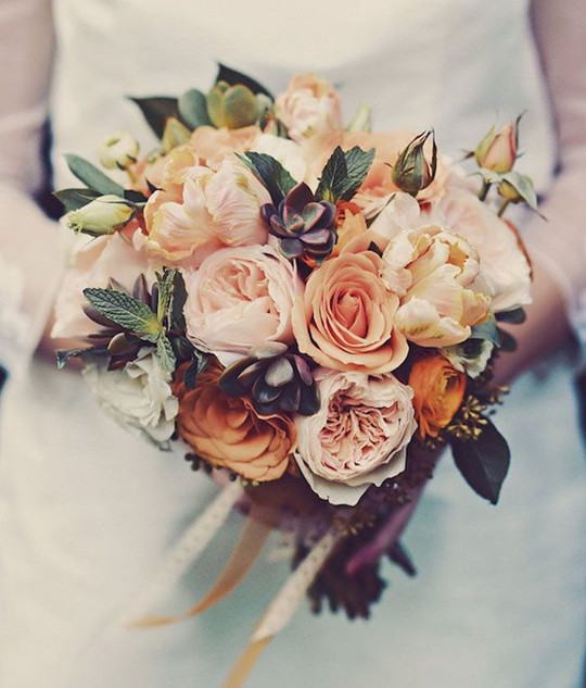 gorgeous vintage fall wedding flower rose bouquets