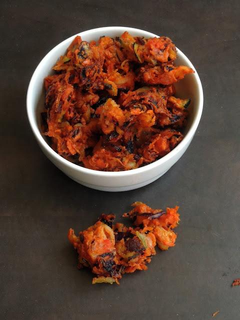 Kaaikari Pakoda, Grated Veggies Pakoras