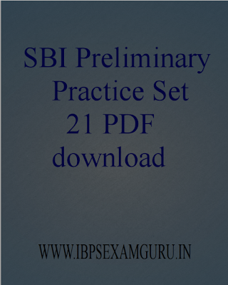 Model Paper 21 for SBI PO Preliminary Exam 2015