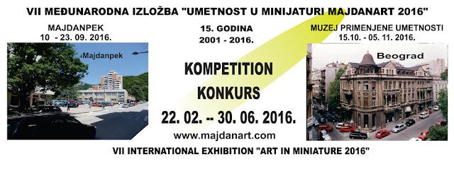 """Konkurs za VII Međunarodnu izložbu """"Umetnost u minijaturi"""""""