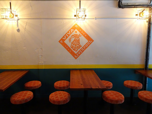 Seating area in Changos Burrito Bar