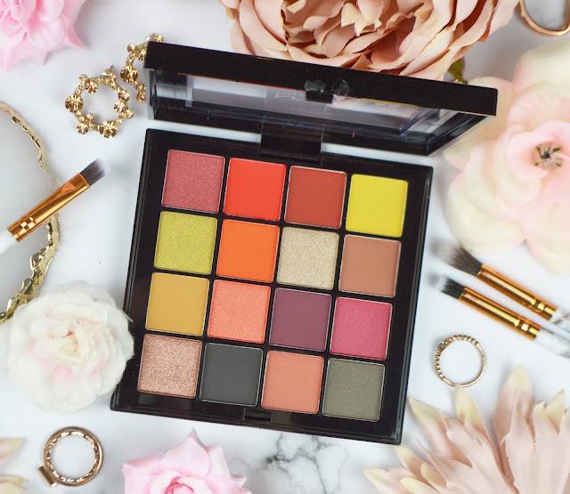 Lovelaughslipstick blog www.lovelaughslipstick.com NYX Ultimate Phoenix 16 Shade Eyeshadow Palette Flatlay