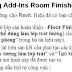 Sử dụng Add-Ins Room Finishes trong Revit 2018