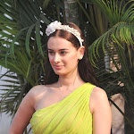 Evelyn Sharma Looks Drop Dead Gorgeous In Green Dress At The HELLO Classic Derby Race 2013