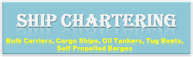 Cargo ship, Oil Tanker, Bulk Carriers, tug Boats, Self Propelled Barges, Flat top barges, Mini Bulk Carriers