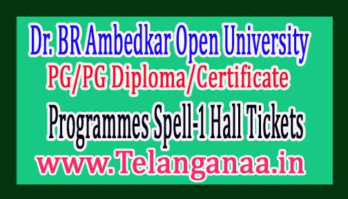 BRAOU PG/PG Diploma/Certificate Programmes Spell-1 Hall Tickets 2017
