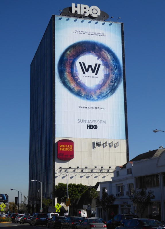 Giant Westworld season 1 billboard Sunset Strip