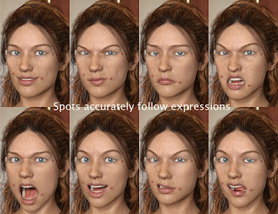 Lumps, Bumps and Beauty Spots for Genesis 3 Female
