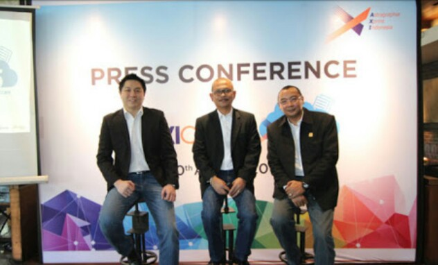 Contoh Press Conference Backdrop