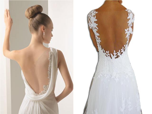 vestido de noiva costa nua
