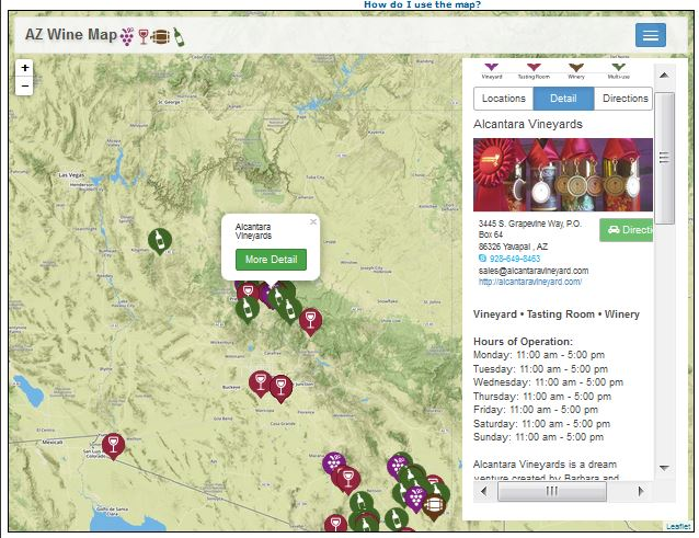 Interactive Map Of Arizona.Arizona Geology New Interactive Map Of Arizona Wineries Vineyards
