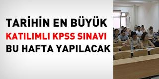KPSS SINAVINA KAÇ KİŞİ KATILACAK