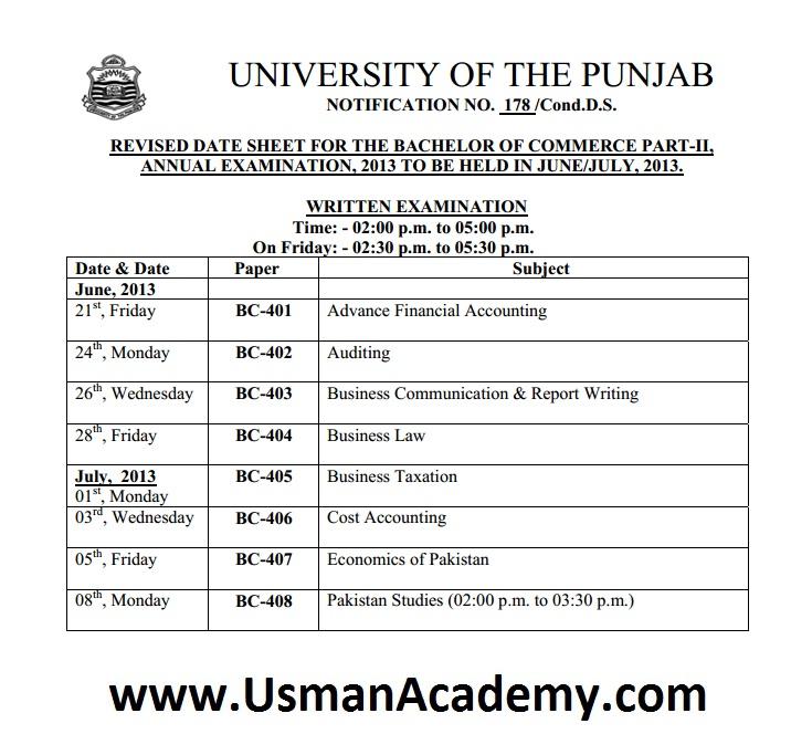 punjab university result 2018 supplementary part 2