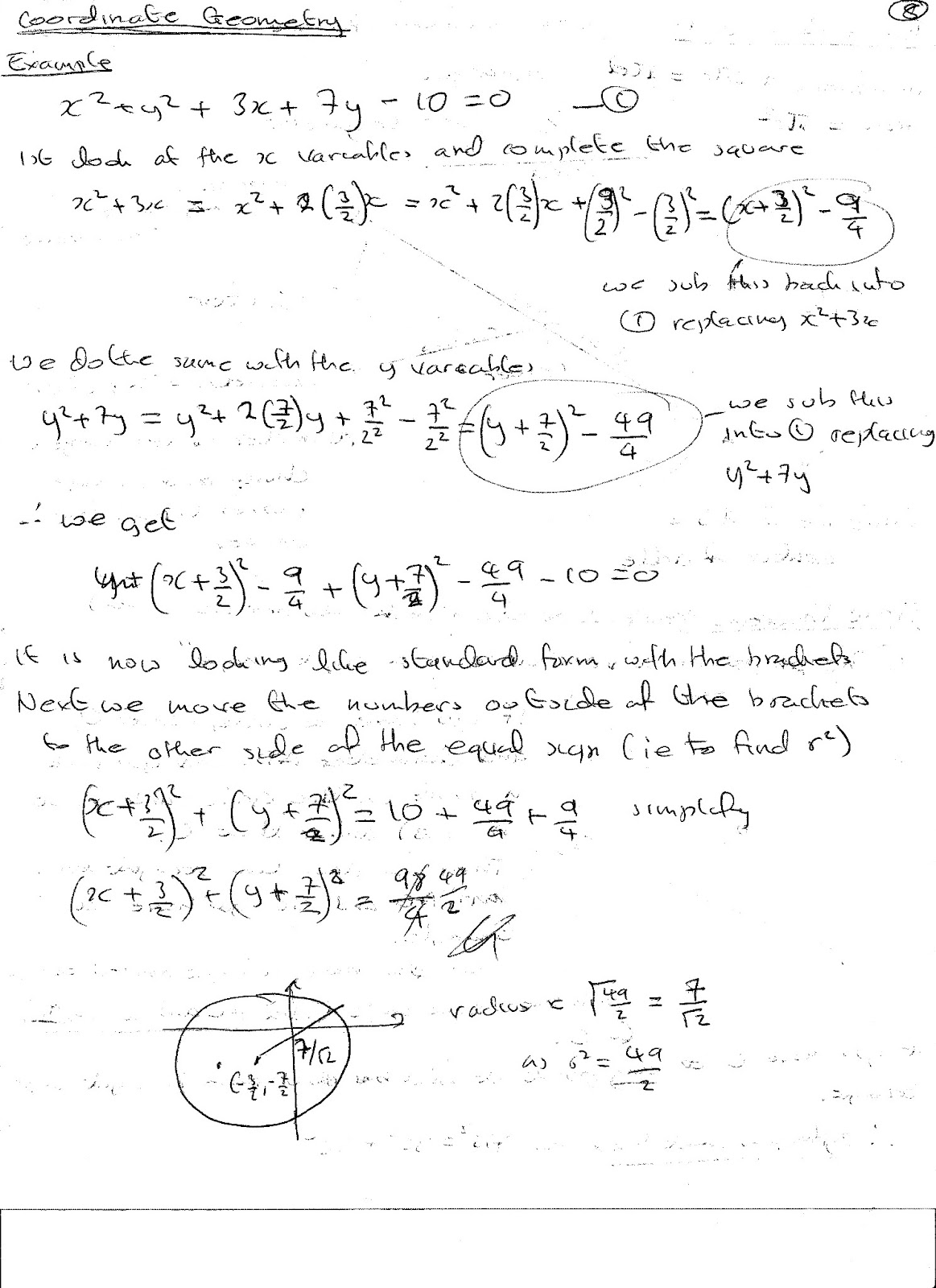 A Level Maths Notes Coordinate Geometry