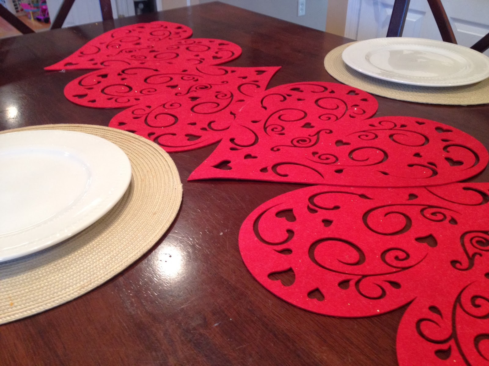 Two It Yourself Dollar Store Valentine S Day Table Runner