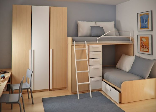 28 Desain Kamar Tidur Kecil Minimalis