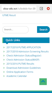HOW TO CHECK EBSU POST UTME RESULTS
