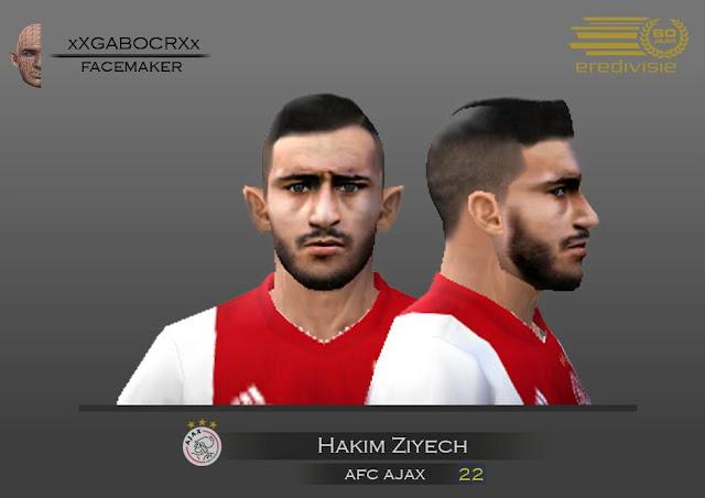 PES 6 Hakim Ziyech (Ajax) Face - CariTauGame | Download Game
