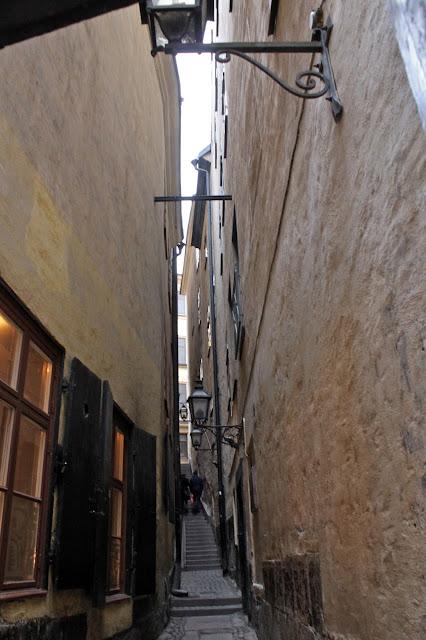Narrow streets, stockholm gamla stan