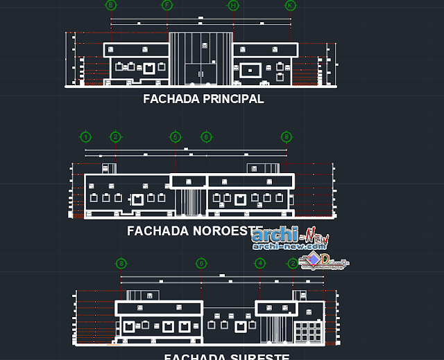 Finishes of family housing in AutoCAD