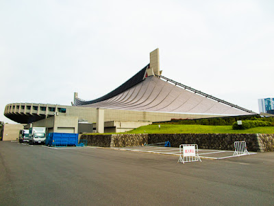 Yoyogi National Stadium Gymnasium No.1 viewed from the north, Tokyo, Japan.