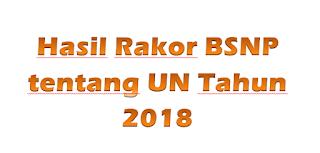 Hasil Rakor BSNP tentang Kebijakan UN & USBN Tahun 2018