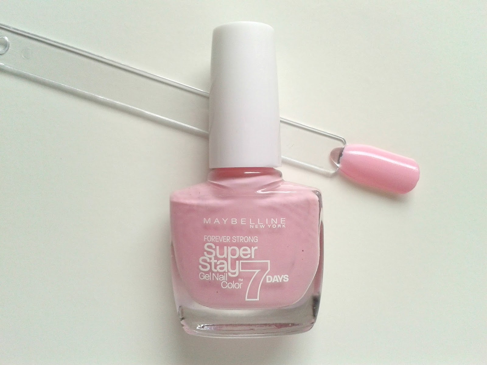 Maybelline New York Super Stay 7 Days Gel Nail Colours Pink in the Park Beauty Review Swatch