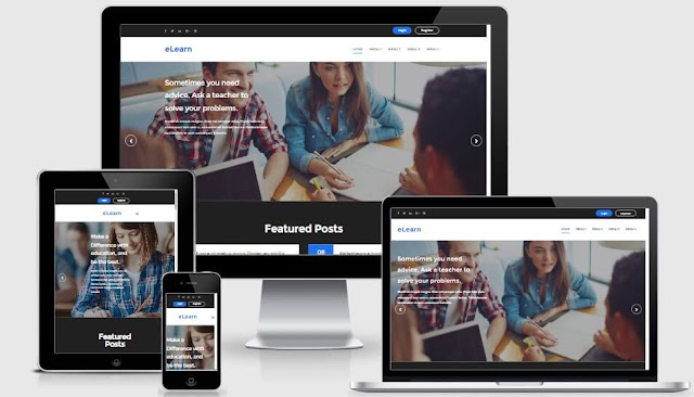 elearn Education Responsive Blogger Template