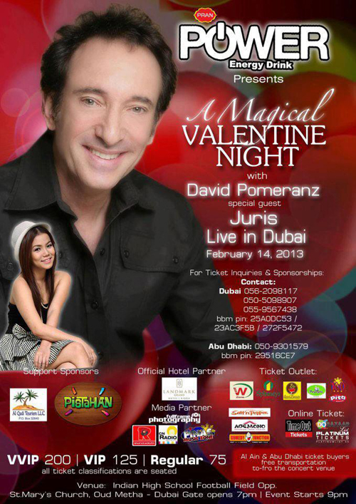 David Pomeranz, Air Supply, headline best Valentines concerts in Dubai
