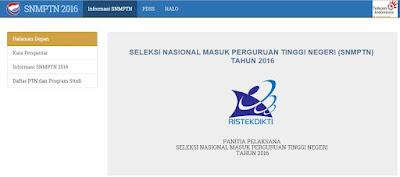 Info Pendaftaran dan Pengumuman SNMPTN 2016