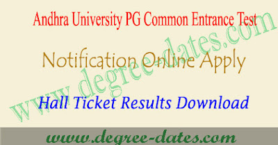 AUCET 2019 notification online apply hall ticket results au pgcet