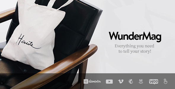 WunderMag WordPress Theme is a spider web log journal subject that looking therefore professional person too premiu WunderMag v2.6.2 – Influenza A virus subtype H5N1 WordPress Blog / Magazine Theme Download