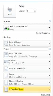 شرح كيفية طباعة صفحتين او اكثر في ورقة واحدة في الوورد Word