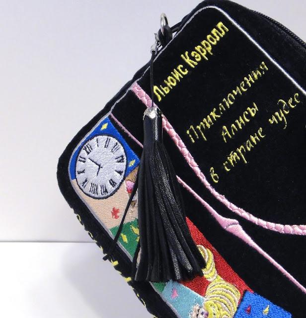 Клатч - книга: компьютерная вышивка на заказ oksmoroz@yandex.ru Черная сумочка для девушки, подарок дочке подростку