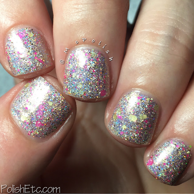 Glam Polish - Friendship is Sparkly Trio Part 2 - McPolish- Keep Clam and Flutter On