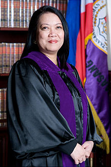 New Chief Justice of the Philippines - Maria Lourdes Sereno