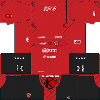 Muangthong United 2019 Kit - Dream League Soccer Kits