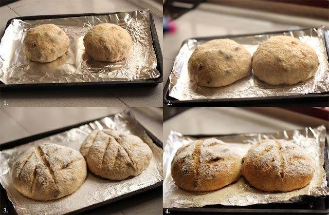 No knead - fruit bread