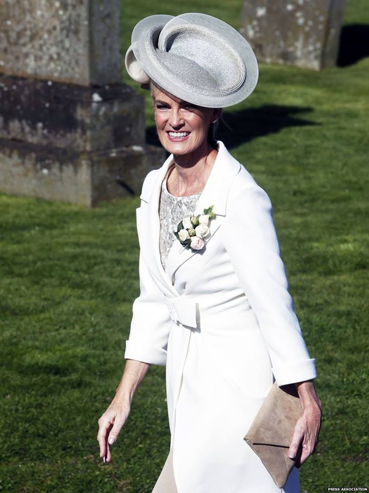 Andy Murray's mother Judy at his wedding to Kim Sears