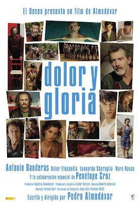 Dolor y Gloria - Poster Pelicula Almodovar