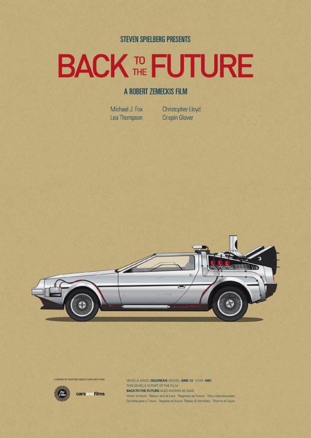 movie car posters by Jesús Prudencio