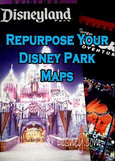 Repurpose your Disney Park Maps