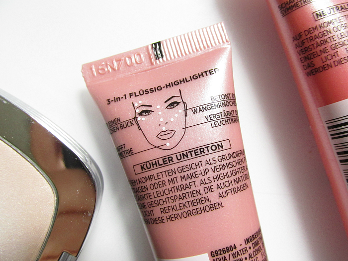 Review & Anwendung: L´Oréal Paris Perfect Match 3-in-1 Flüssig Highlighter - Icy Glow, Rosy Glow, Golden Glow
