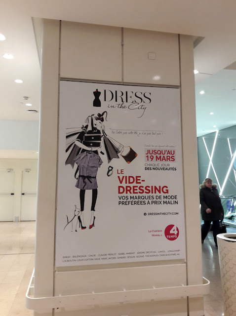 Dress in the City vide dressing shopping occasion centre commercial les 4 temps la défense
