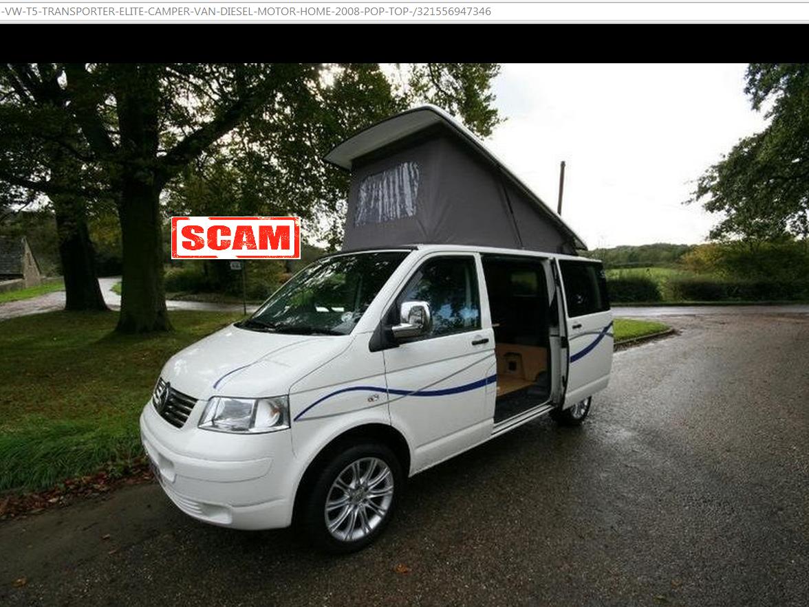 Jack Buster Jack Scam Volkswagen Vw T5 Transporter Elite Camper Van Motor Home 2008 Pop Top Rf08ncd Ebay Fraud Rf08 Ncd 19 Oct 14