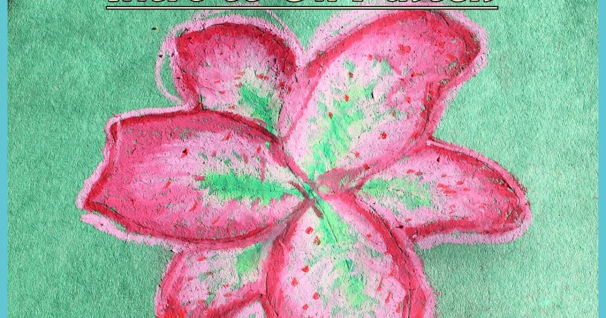 My Bright Firefly Lily Coloring In Oil Pastels For Kids
